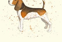 Personalised Dog Breed Prints / Dog Prints / by Michelle Campbell Art
