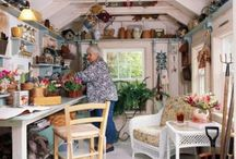 She sheds and potting bench