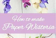 Wisteria paper flowers