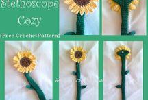 crochet stetoscope cover