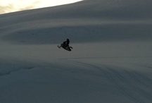 Snowmobile riding Majavatn
