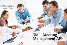 meeting management app / 3M is the one-stop solution for meeting management helps to view the available slot of the person whom they want to meet and schedule a meeting request.