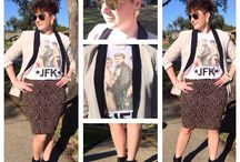 Conspiracy Theory / Express blazer Forever 21 earrings, skirt and booties Urban Outfitters tee