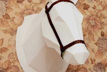 Голова животного оригами
