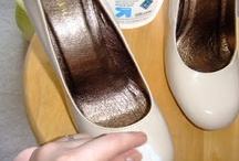 Dye patent leather shoes