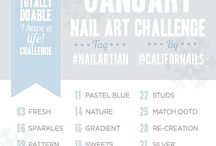 JANUARY NAIL ART CHALLENGE #nailartjan / The first challenge I will be participating for the 2014!!!. So exiting to start again with challenges!!!.. I will post the designs I will do here!. Hope you like them!.  Please visit my Blog and click LIKE on my Facebook page https://www.facebook.com/glamstylenailsbycarolina