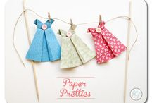 paper doll dress bunting