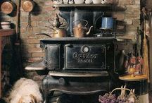 Stove, Hearth, Fireplace / Every fireplace needs a broom...