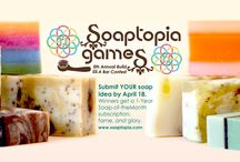 2014 Soaptopia Games Soap Contest / Our annual soap contest -- soap ideas submitted from around the world and whipped up in our test kitchen! Who will win the gold?!?! / by Soaptopia