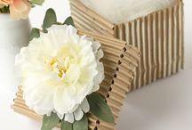 artesanato com papelão enrugado