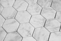 Hexagon ceramic, marble and porcelain tiles / Hesxagons are fashional tile shape used for feature walls, splash backs and floors. No matter what style there's something for everyone!