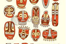 African Masks / Ideas and images for Yr8 unit on African Masks