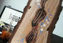 PAINTINGS ON WOOD / Acrilic Paintings on wood.