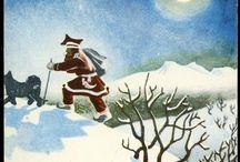 Aukrust Kjell / Christmas-Cards-Julekort-Old-Gamle-Populær-Vintage-
