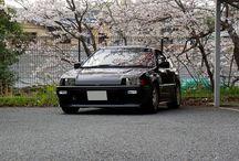 2014 Ballade Sports CR-X  Si 櫻の木の下で / 桜の木の下で29年目の春を迎えられました♪  HONDA  Ballade Sports CR-X Si 1985 → 2014 春
