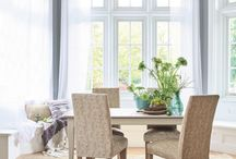 Summer Interior Inspiration / From creating bright living spaces and bringing greenery into your home, to adding floral details to your dining room and illuminating your garden for summer evenings - here are our favourite interior design ideas and inspiration for styling your home for summer.