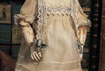 Antique doll french dress-sukienki antycznych francuskich lalek