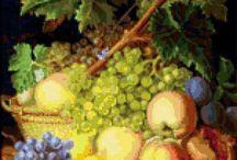 haft warzywa owoce martwa natura
