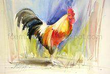 Fábio Cembranelli - aquarela óleo acrílico - Marinas e temas diversos