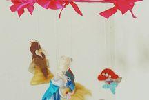 nursery girls mobile princesses ooak