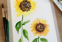 Canvas painting ( white background )