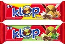 KLOP / K: Kepingan biskuitnya 2 warna L: Lengkap dengan 2 rasa yg berbeda O: Orang Indonesia suka P: Paling KLOP untuk semua  KLOP rasanya, KLOP nikmatnya