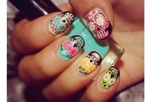 Nails calaveras mexicanas
