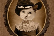 Vintage animal portraits
