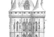Schlosses und Burges