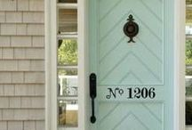 Door Inspiration / Inspiring front door colors, interior doors and door ideas