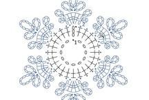 Fiocchi di neve all'uncinetto