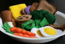 Fake food for children / This is all fake food, for play kitchens and play room ideas check out my other children's board