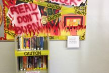 Library Displays / Displays for the school library.