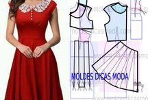 moldes de vestidos