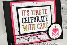SU Party With Cake / To order your Stampin' Up! products see me at http://www.stampinup.net/esuite/home/cparsons/