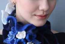 hat, shawl, glove