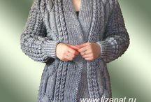 pletení svetry dlouhé