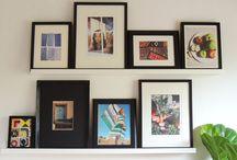 Walls-  art/ displays / Art displays. How too