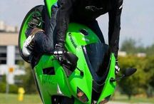 neon motorcycle