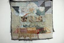 fiber art. thread. textile. stitching.