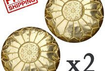Poufs, Pouffes, Ottomans, Footstool / Get your Handmade Moroccan Leather Pouf, Pouffe, Ottoman, Footstool
