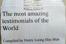 The most amazing testimonials