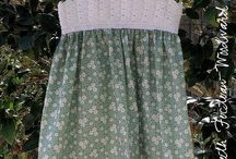 Cotton dress with crochet yoke