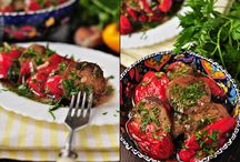Из баклажан, перца, помидоров