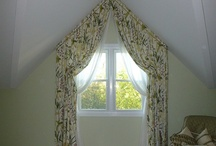 attic window curtains
