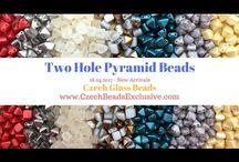 Czech Glass 2 Two Hole Pyramid Beads: Tutorials, Patterns, Inspiration