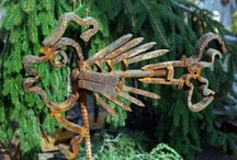 FOR THE GARDEN--REPURPOSED YARD SCULPTURES / by Patty VanHousen