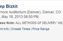 Fillmore Auditorium 5/18/13 - Denver, CO / 05/18/13 - Denver, CO - Fillmore Auditorium    Show info & Tickets: http://concerts.livenation.com/event/1E004A82BF408418?c=LNSM_CT_Denver_Limp_Bizkit__fb_image_04032013