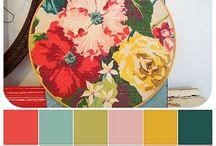 Floral colour palettes