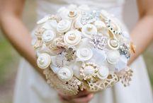 Vintage Button Bouquets